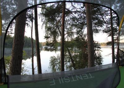 Utsikt från trädtält